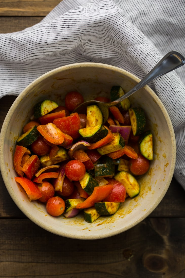 Curried Vegetables | http://naturallyella.com