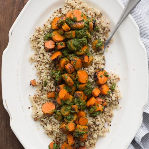 Grilled Carrots with Chermoula | @naturallyella