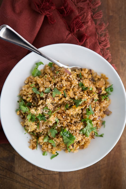Three Onion Fried Rice | @naturallyella