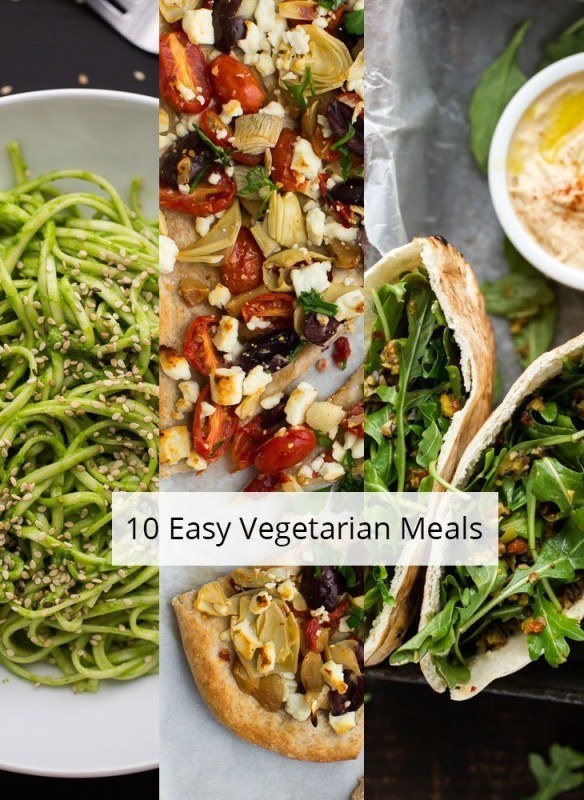 10 Easy Vegetarian Meals | http://naturallyella.com