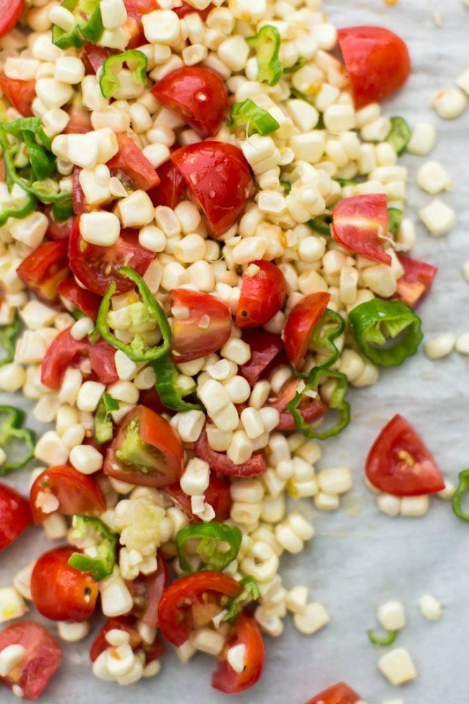 Roasted Sweet Corn and Tomatoes