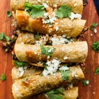 Baked Black Bean Taquitos