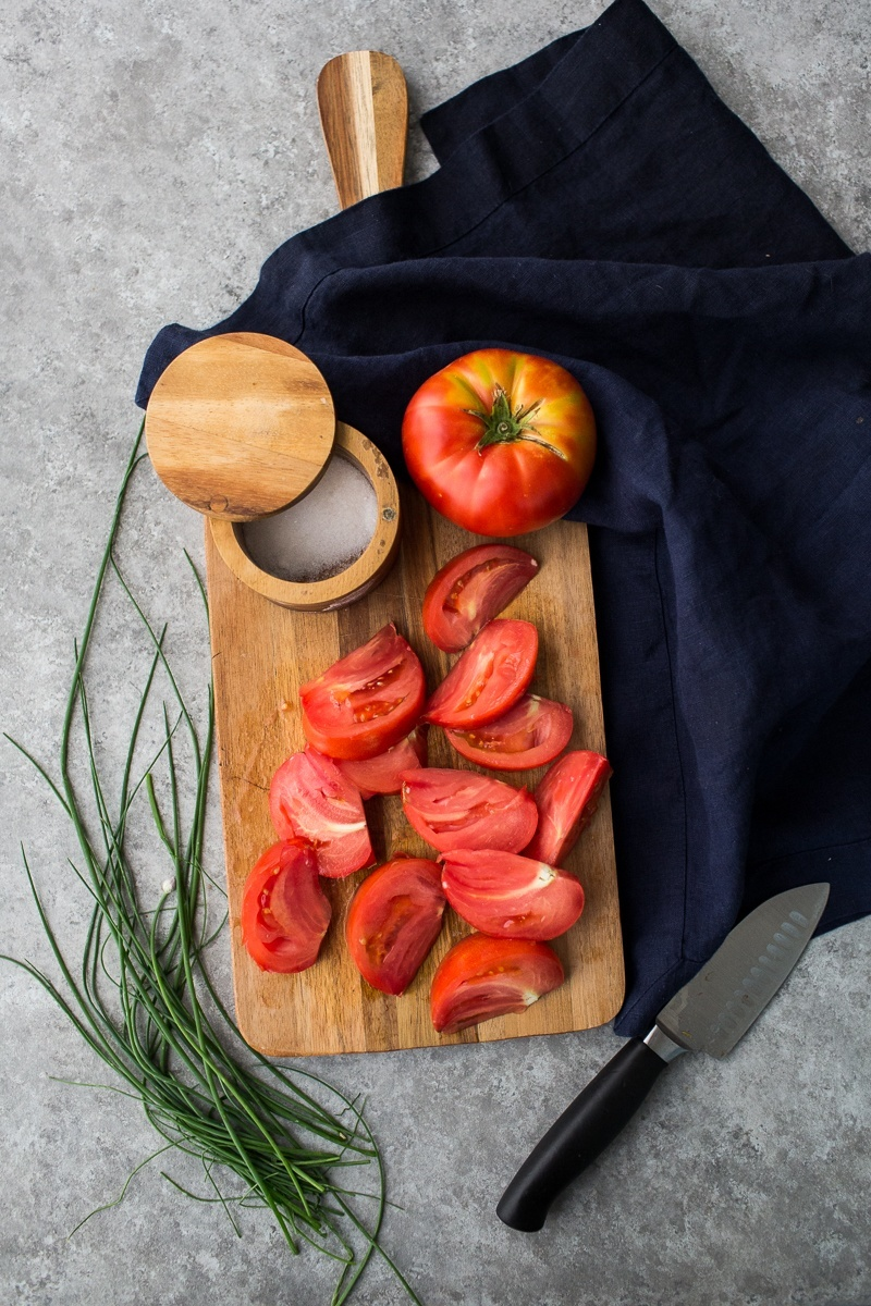 Sliced Heirloom Tomatoes | http://naturallyella.com