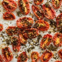 Za'atar Roasted Tomatoes- The Rosewater and Orange Blossom Cookbook