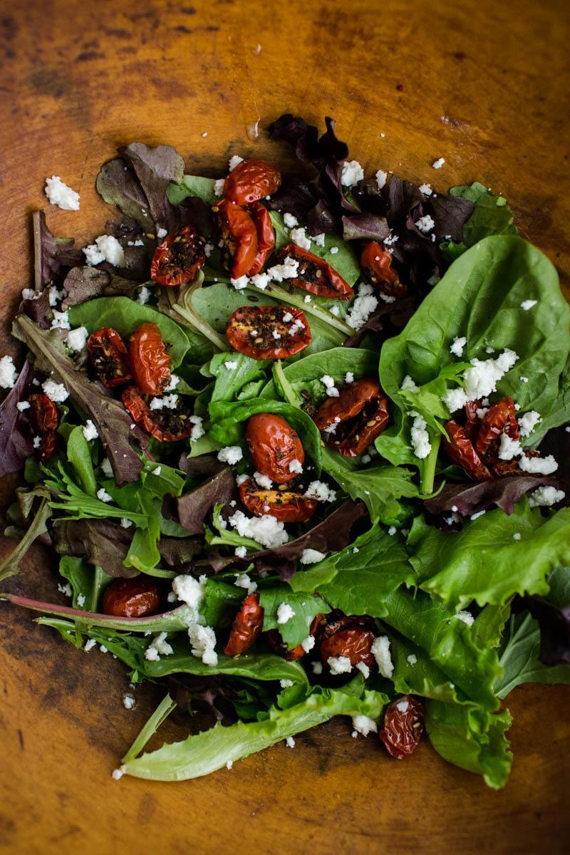 Za'atar Roasted Tomato Salad with Feta