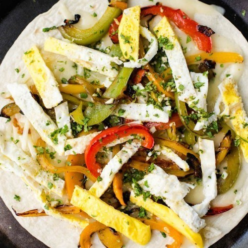 Breakfast Quesadillas with Peppers and Eggs | http://naturallyella.com