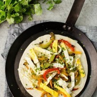 Breakfast Quesadillas with Peppers | http://naturallyella.com