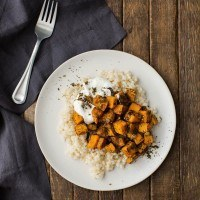 Roasted Za'atar Sweet Potatoes with Couscous