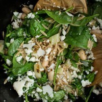 Grilled Fennel Salad with Spinach and White Beans