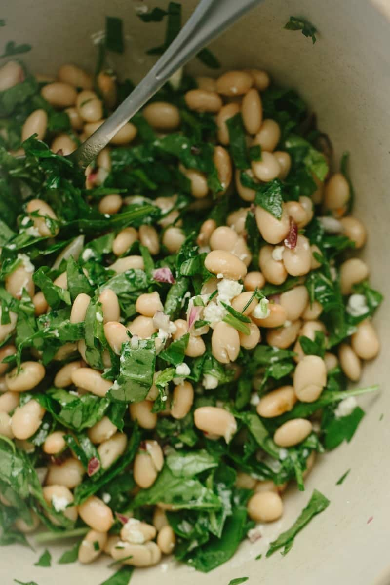 Cannellini Bean and Spinach Salad