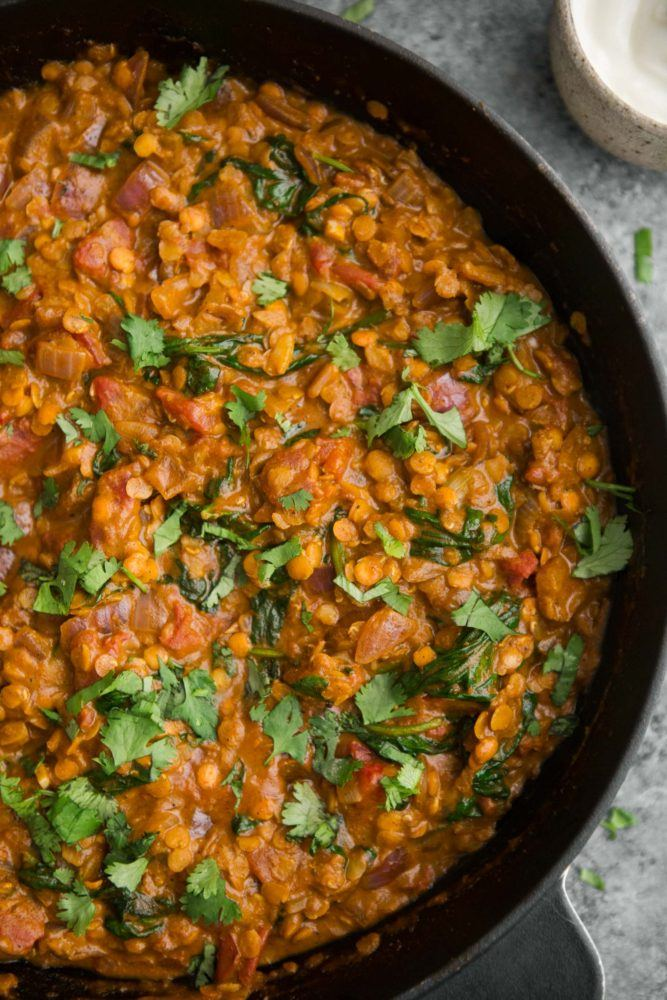 Spinach and Red Lentil Masala | @naturallyella