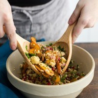 Moroccan Carrot Salad with Millet and Pomegranate