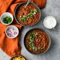 Bulgur Vegetarian Chili with Kidney Beans