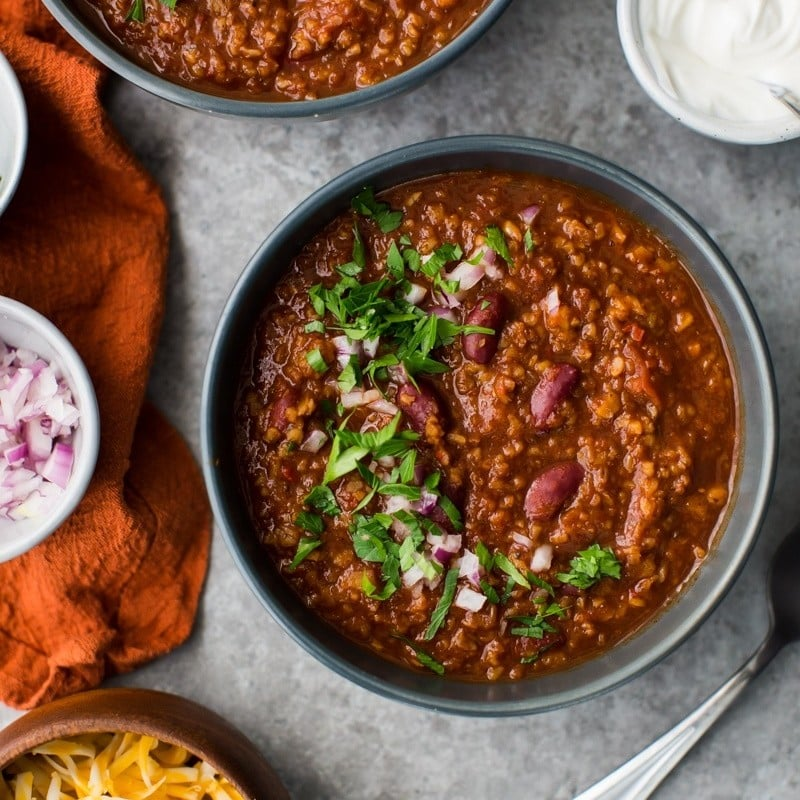 Bulgur Vegetarian Chili