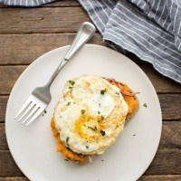 Butternut Squash Toast with Fried Eggs