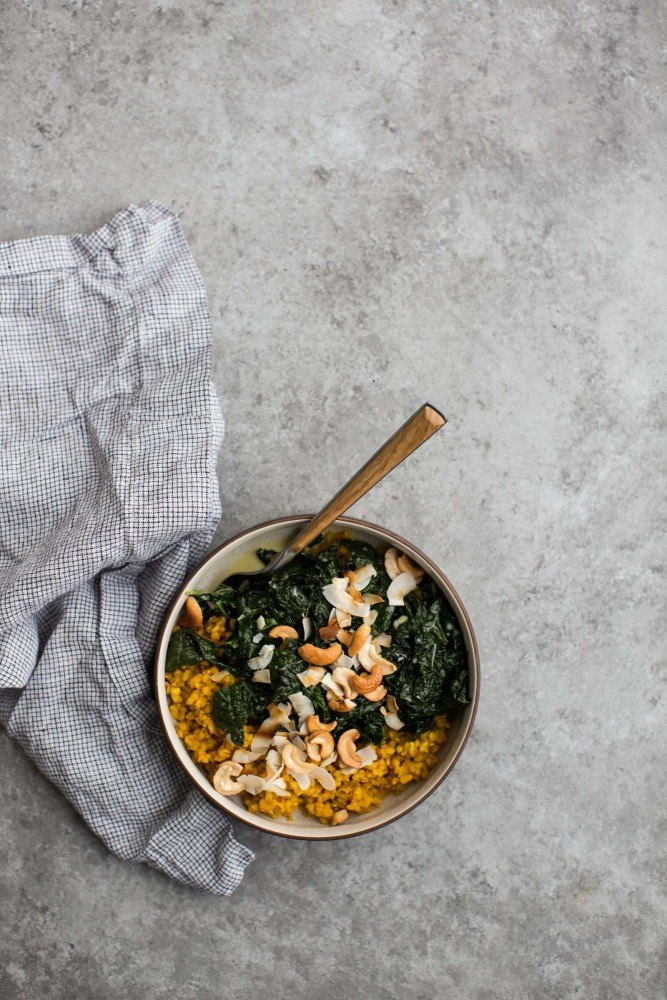 Coconut Kale with Turmeric Rice