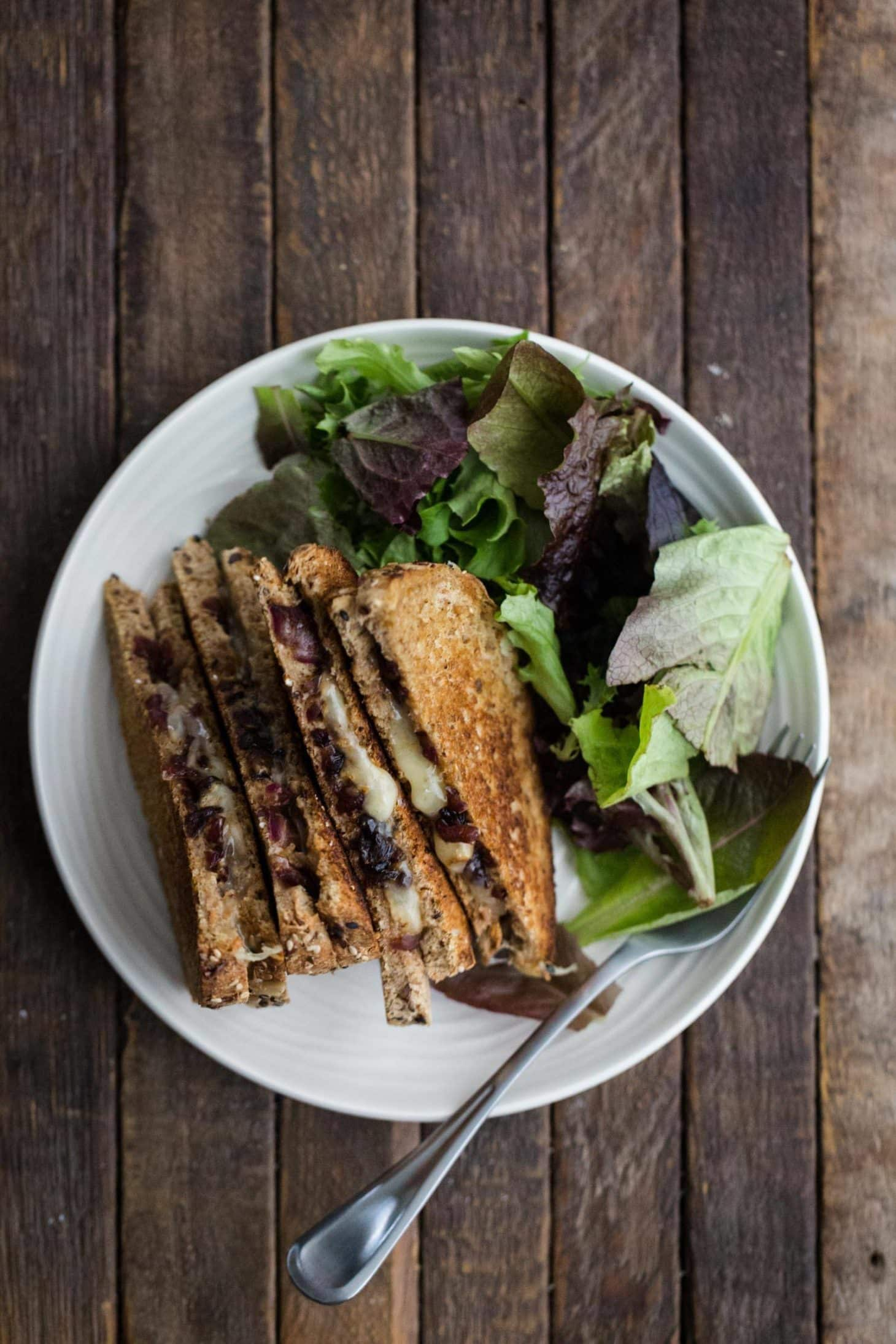 Grilled Cheese with Balsamic Onions and Mustard