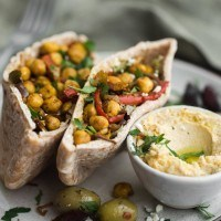 Chickpea Shawarma Stuffed Pita