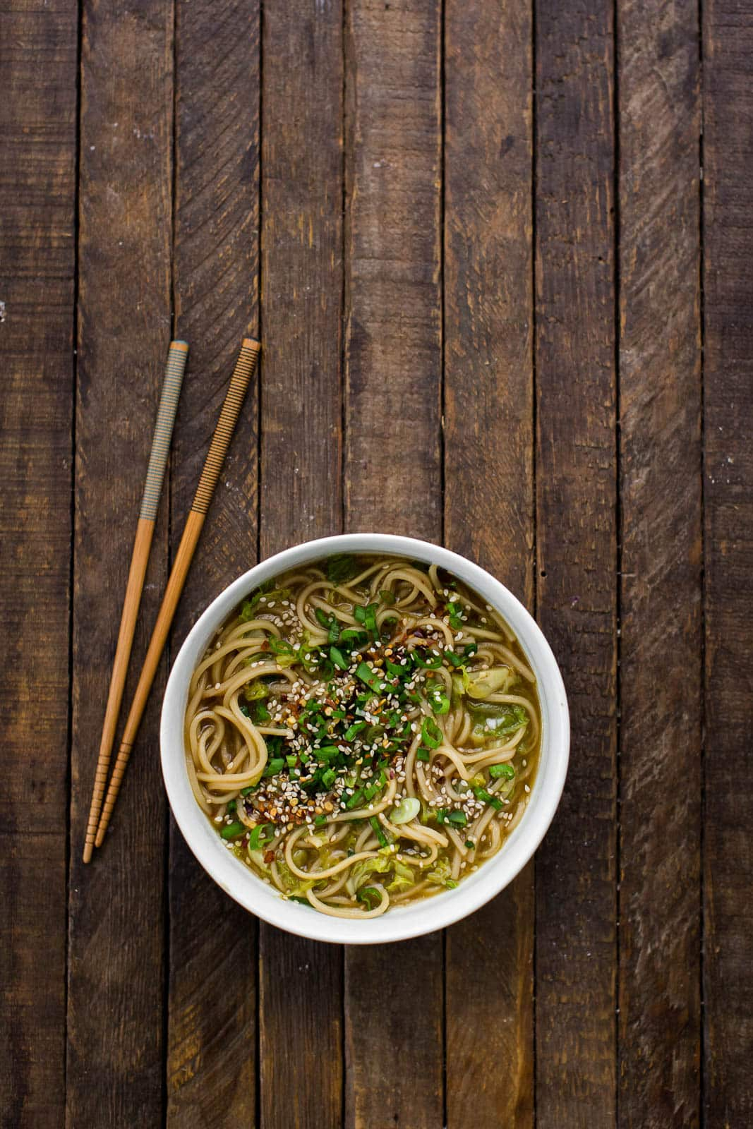 Ginger Noodles (Ramen) with Napa Cabbage
