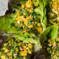 Curried Chickpea Salad Lettuce Wraps