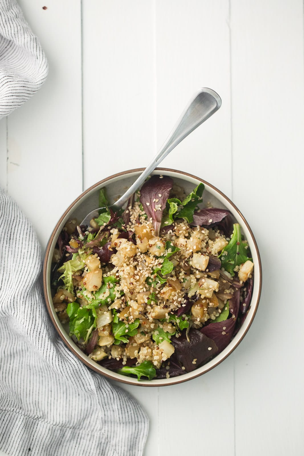Sesame Roasted Turnip Salad