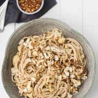 Cauliflower Pasta with Lemon-Almond Sauce