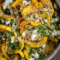 Delicata Squash Salad with Bulgur