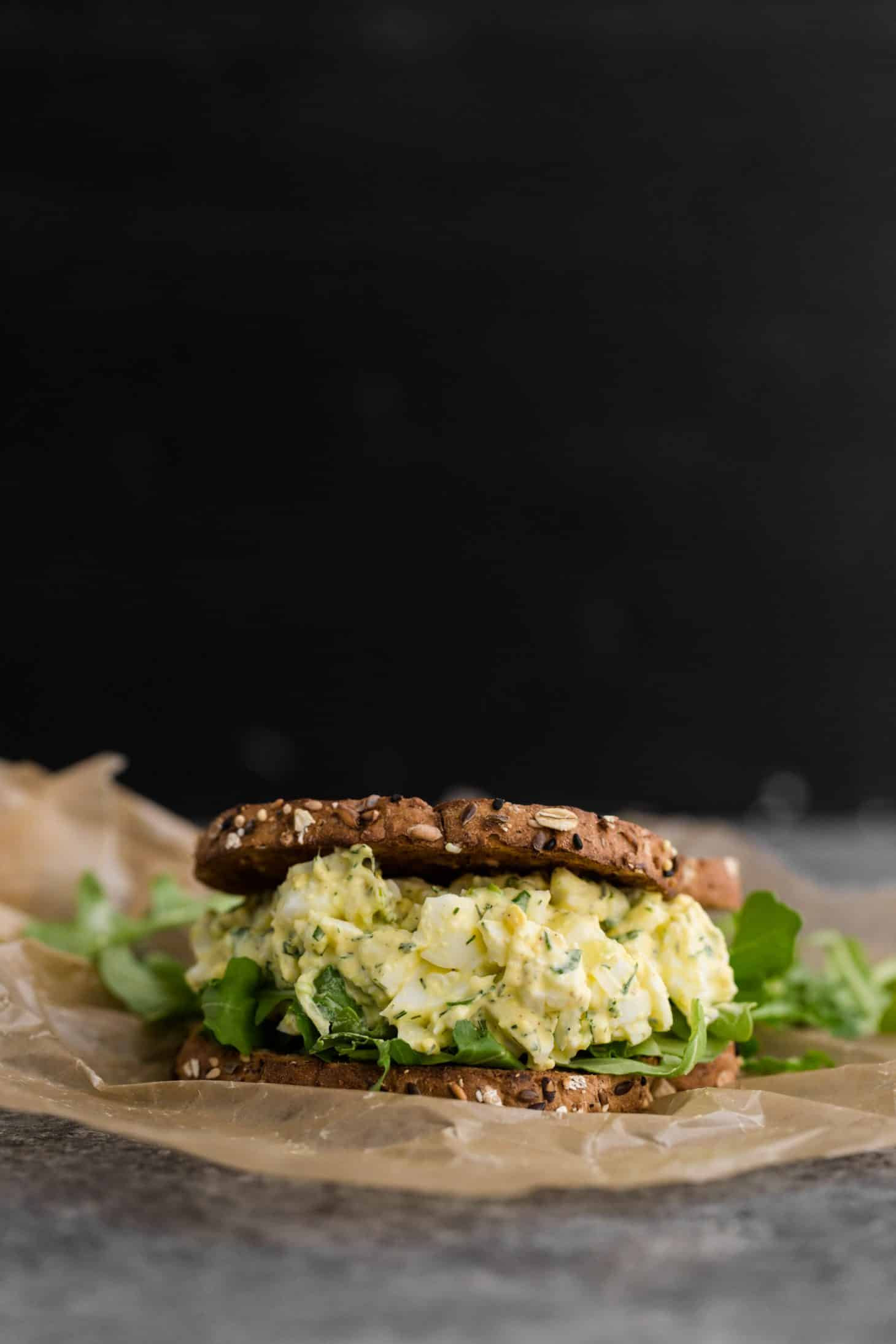 Easy Egg Salad Sandwich with Herbs
