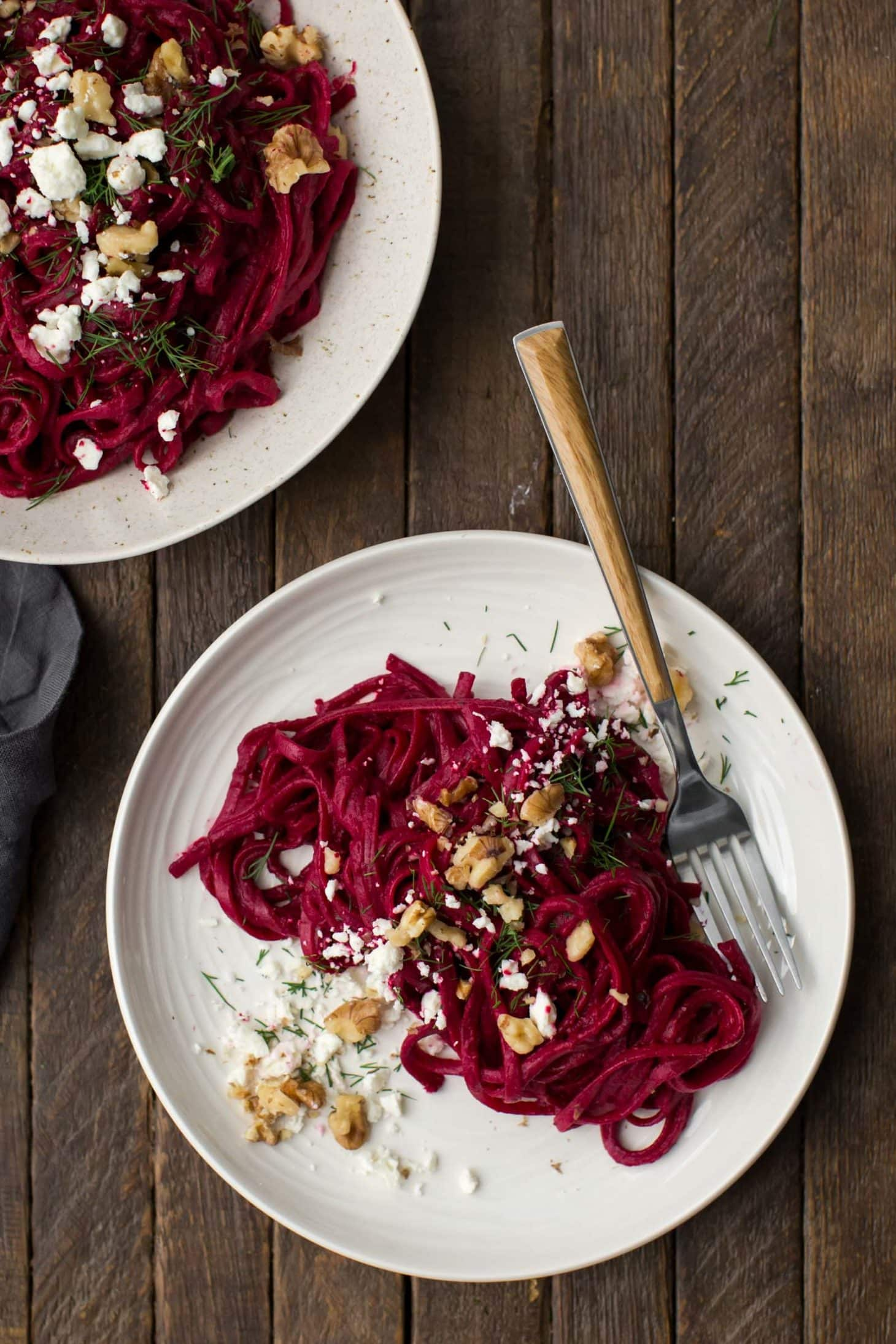 Beet Pasta with Dill