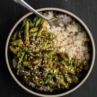 Asparagus Stir-Fry with Miso Sauce