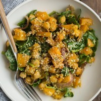 Butternut Squash Salad with Hemp Dressing