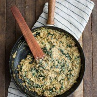 Kale Risotto with Farro
