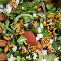 Grapefruit Salad with Sesame Pistachios