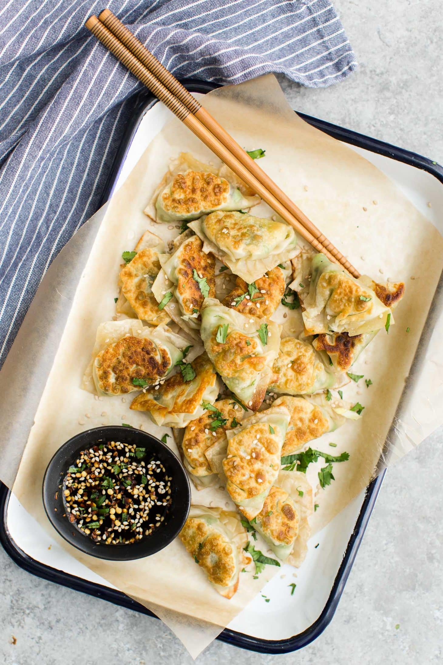 Cabbage Pea Potstickers