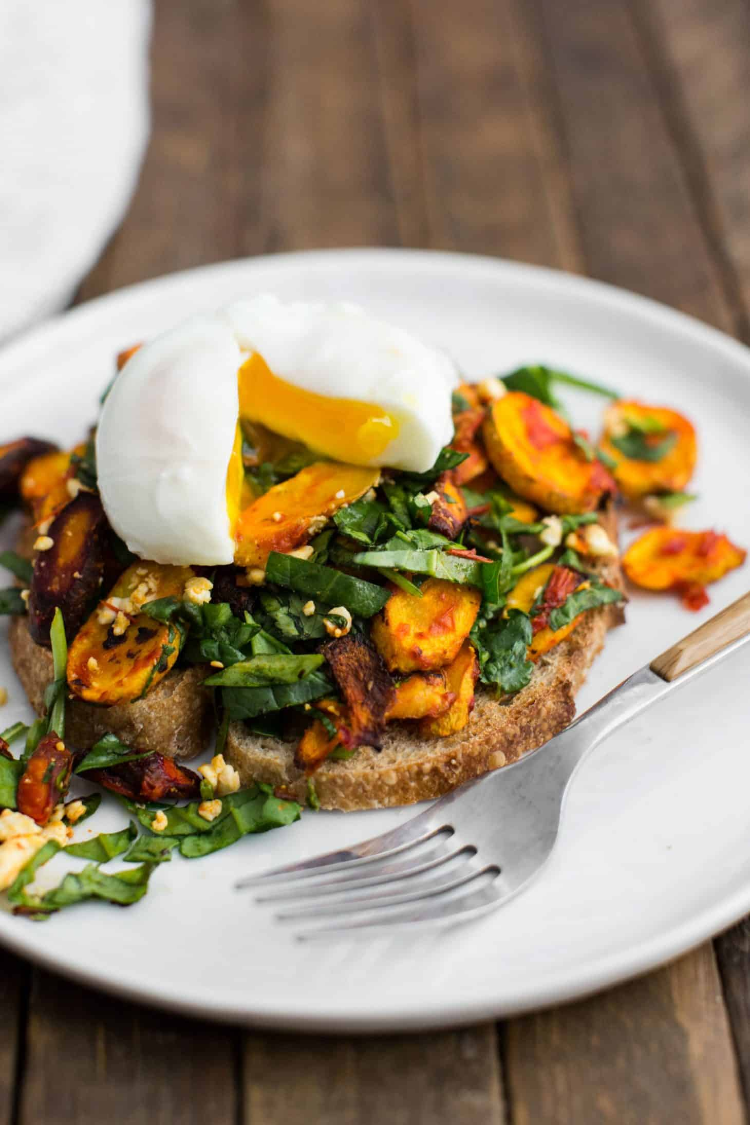 Harissa Roasted Carrot Toast