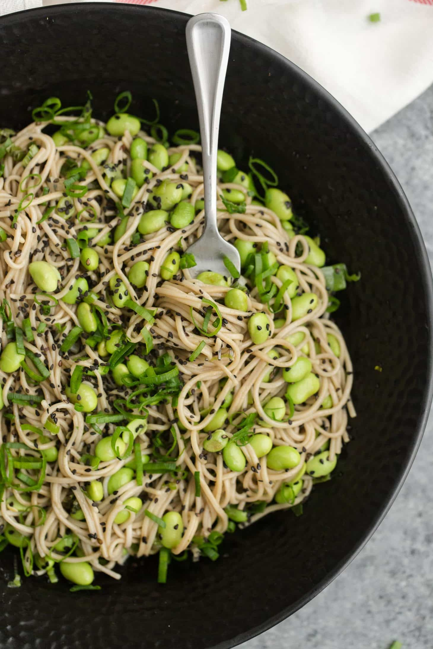 Sesame Soba Noodle Bowl with Edamame | Vegetarian Picnic Recipes