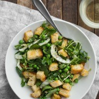 Spring Panzanella with Peas and Fennel