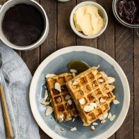 Vegan Carrot Waffles from the Love and Lemons Cookbook