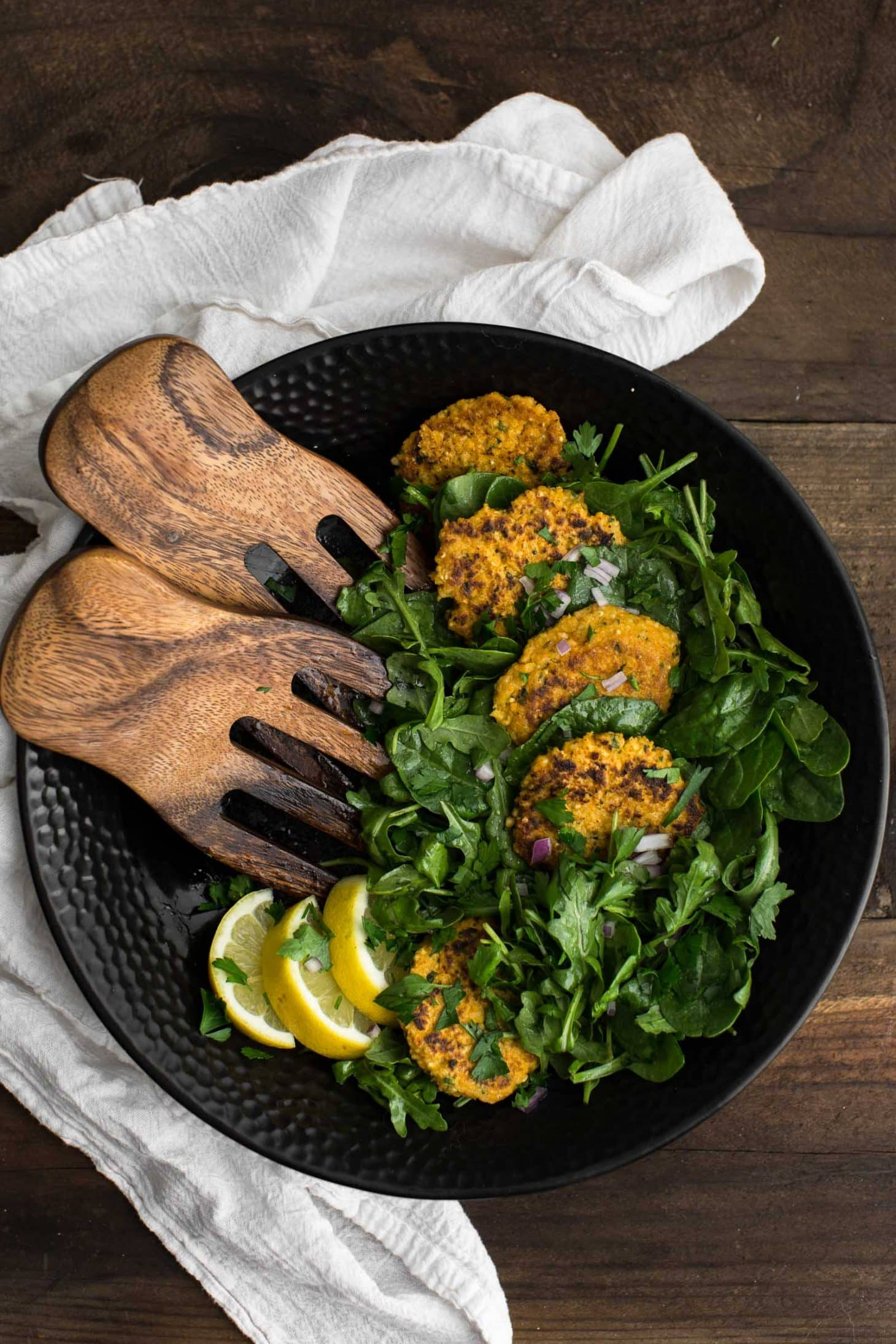 Cajun Millet Cakes with Greens | @naturallyella