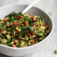 Cumin Zucchini Salad with Pinto Beans