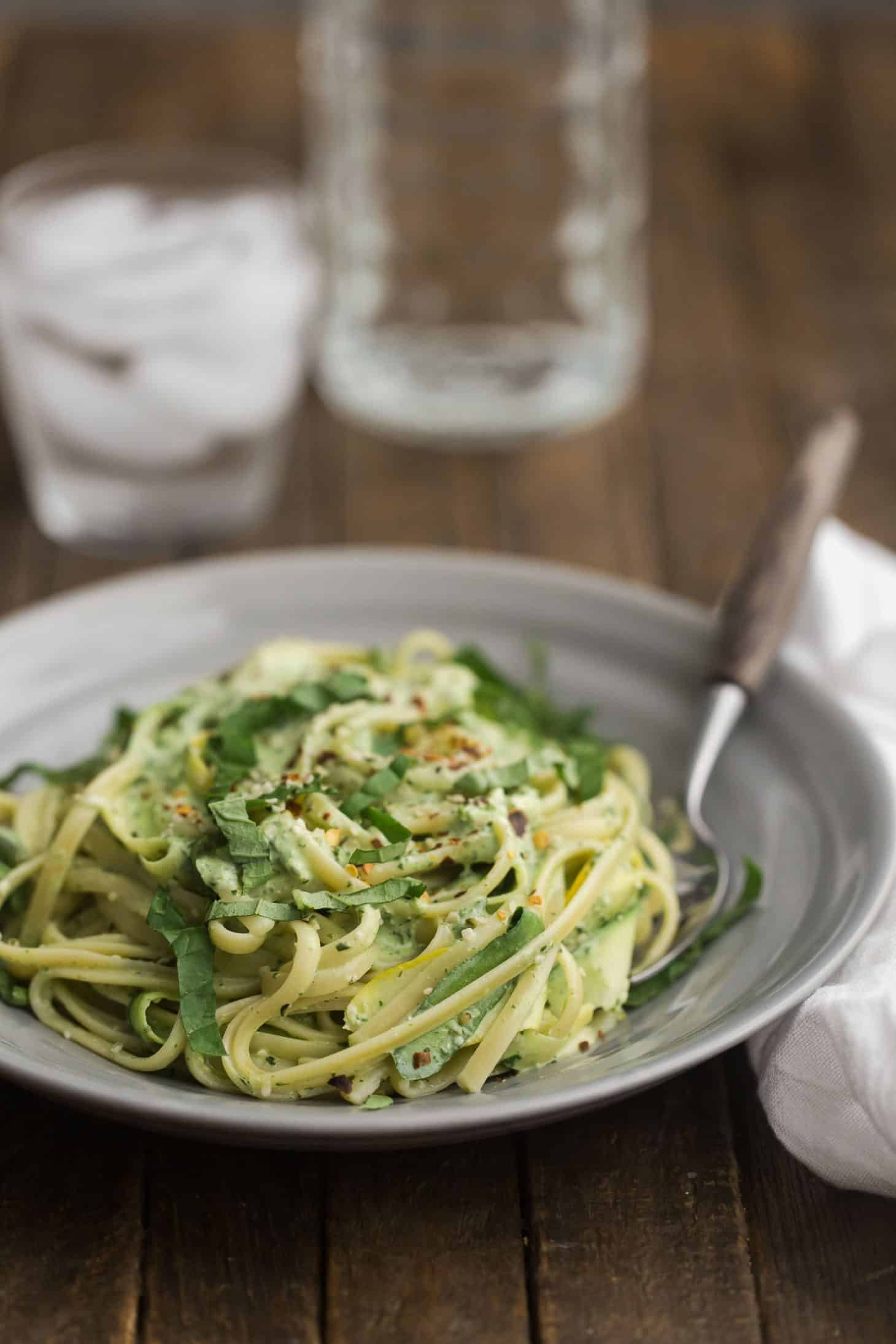 Summer Squash Pasta with Yogurt Sauce | @naturallyella