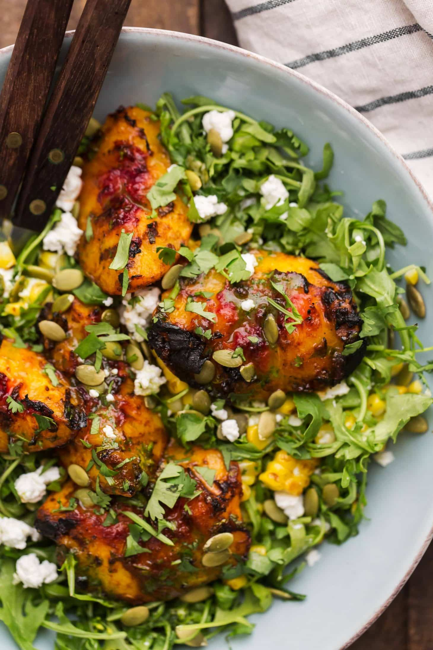 Chipotle Peach Salad | Vegetarian Grilling Recipes