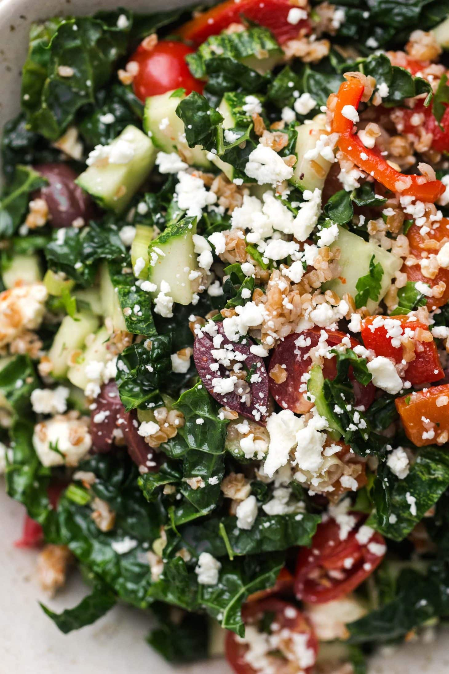 Ankh Rah's Healthy Living Guide: Mediterranean Kale Salad ...