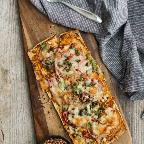 Summer Vegetable Flatbread with Flatout