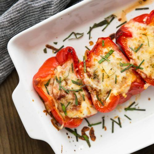 Lasagna Stuffed Peppers | @naturallyella