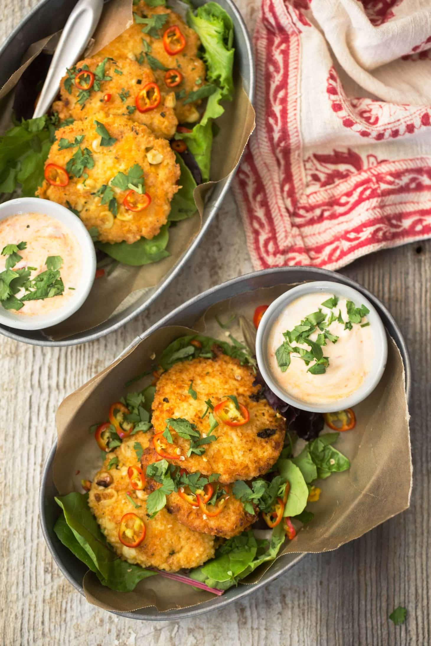 Sweet Corn Fritters with Millet | @naturallyella