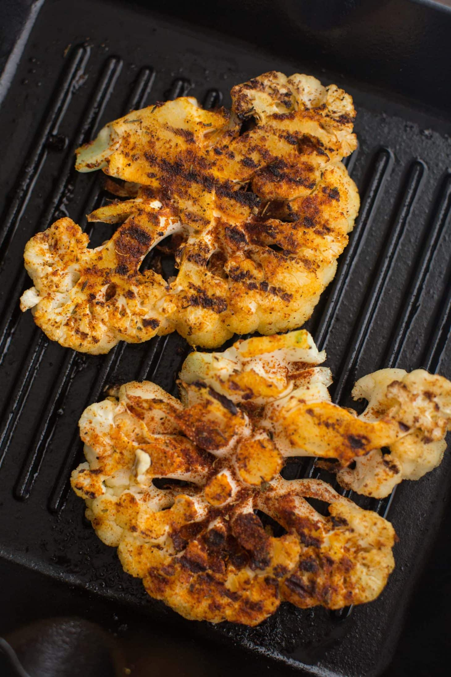 Grilled Cajun Cauliflower | @naturallyella