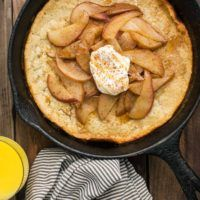 Sorghum Oven Pancake with Pear