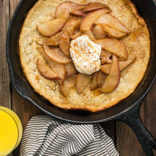 Sorghum Oven Pear Pancake from Alternative Baker Cookbook | @naturallyella