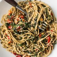 Tahini Noodle Bowl with Collards